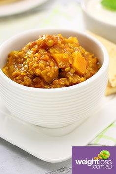 Pumpkin & Red Lentil Dahl Dip. #HealthyRecipes #DietRecipes #WeightLossRecipes weightloss.com.au