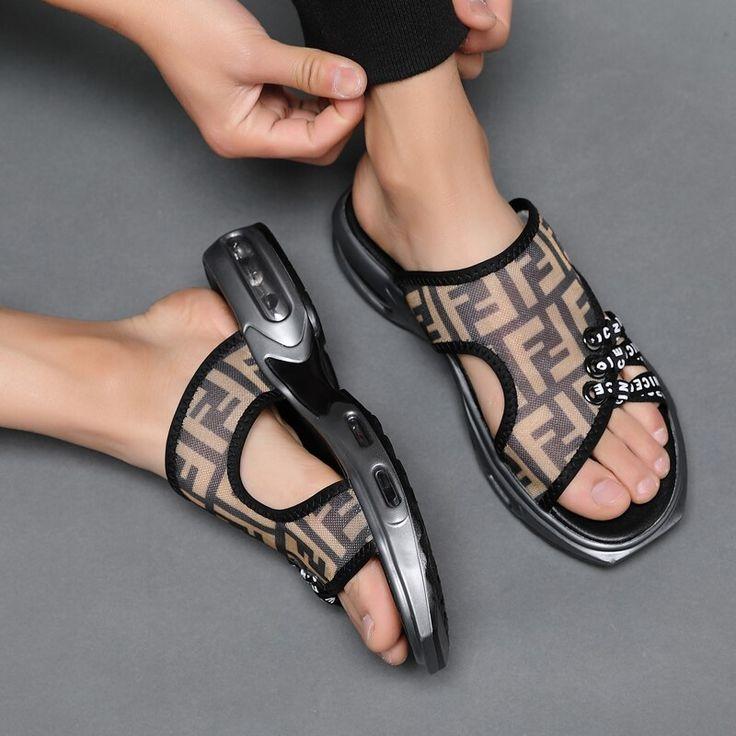 2019 Quality Men's Summer Outdoor Beach Slippers Sandals Shoes For Men Air Cushion Water Slipper Sandals Man