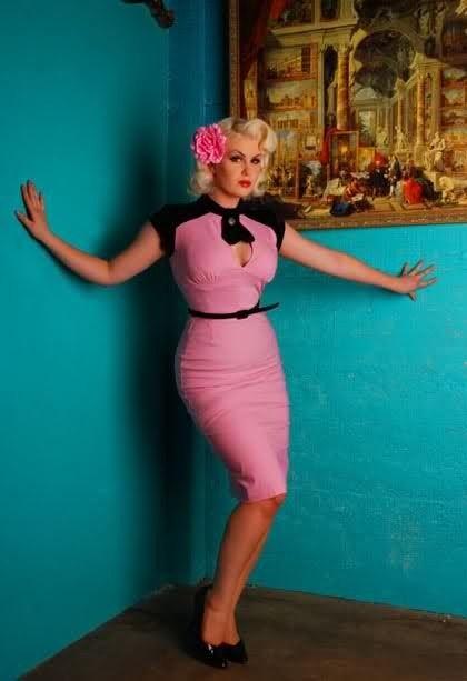Pink pin up dress by IzaM