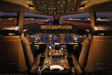 Cockpit d'avion boeing 777
