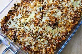 Gerechten zonder pakjes en zakjes #76. Familiegerecht Italiaanse macaroni ovenschotel (Honig) -