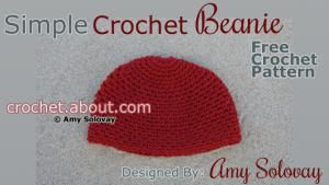 Crochet 20 Different Types of Hats with These Free and Easy Patterns: Simple Crochet Beanie Pattern