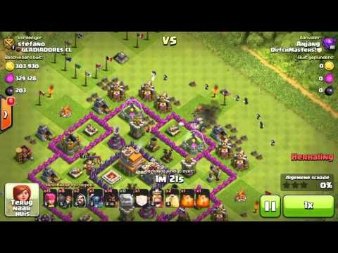 Clash of Clans gowipe and hogs - 3 star - CoC - YouTube