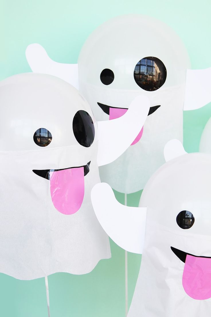DIY balloons for anyone who loves the ghost emoji.