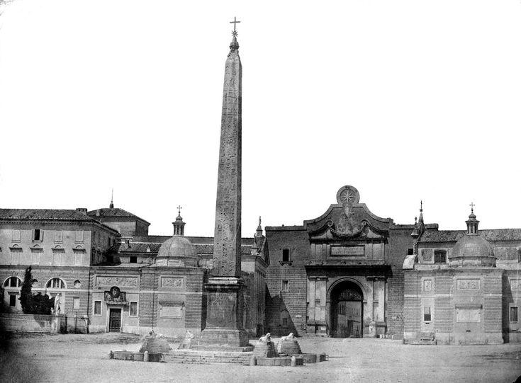 piazza del Popolo 1852 | da R4all