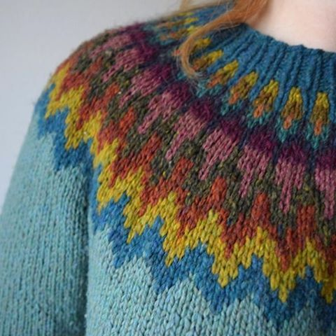 """I love the colors on this fair isle sweater by @knit.love.wool in Maine"" Photo taken by @knittersoftheworld on Instagram, pinned via the InstaPin iOS App! http://www.instapinapp.com (12/29/2015)"