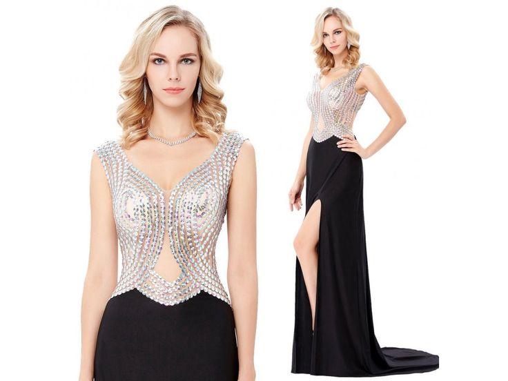 Společenské šaty Grace Karin s rozparkem, RYCHLÉ DODÁNÍ - Bestmoda - new collection of long prom dress