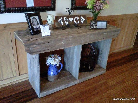 large console table country home table rustic table large wood table rustic furniture recycled wood table cabin beach house farmhouse