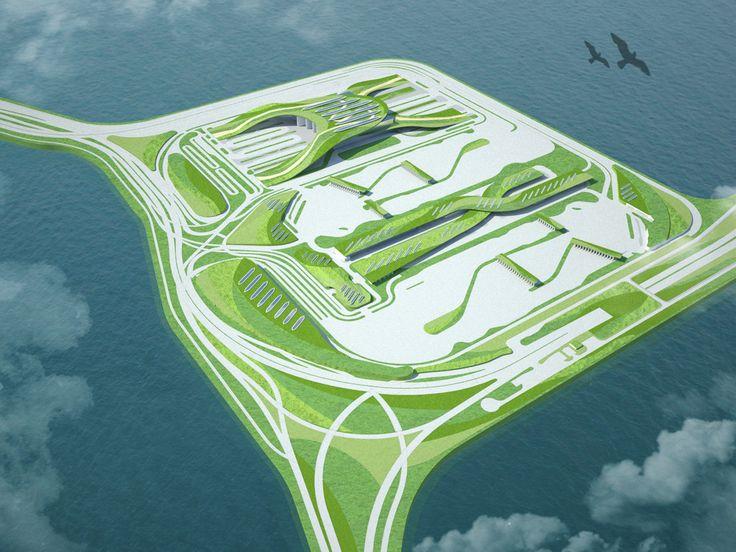 Gallery of Hong Kong-Zhuhai-Macao Bridge Boundary Crossing Facilities proposal / Adrian Lo - 9