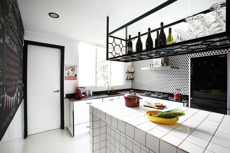 Small Kitchen Island Overhead Wire Hanger