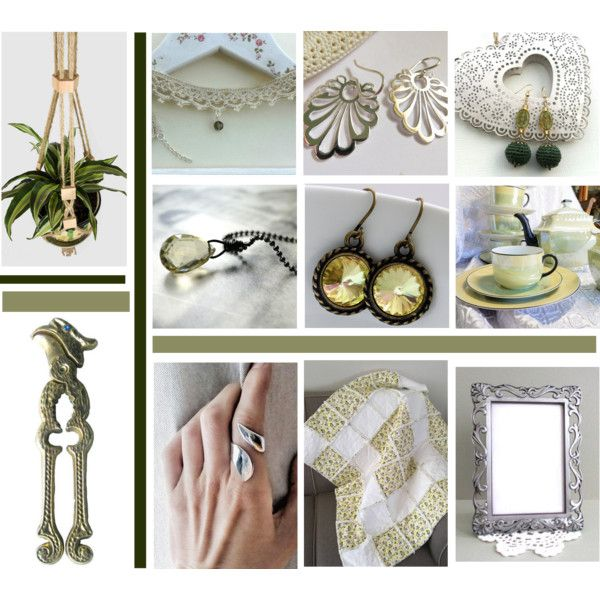 Spring Fresh by inspiredbyten on Polyvore featuring vintage