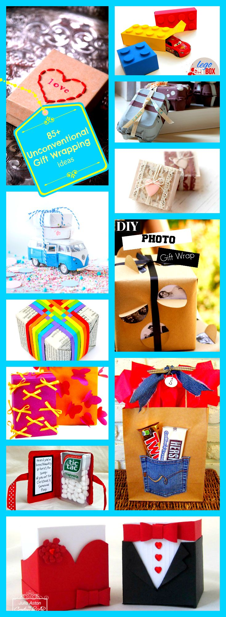 If you have the time, this kind of personal touch is always appreciated!!!!     85+ Unconventional Gift Wrapping Ideas