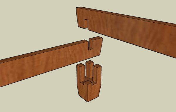good, detailed pics of joinery for a break-down bed, as well as hanging wooden slats inside the frame so that everything comes apart and packs flat.