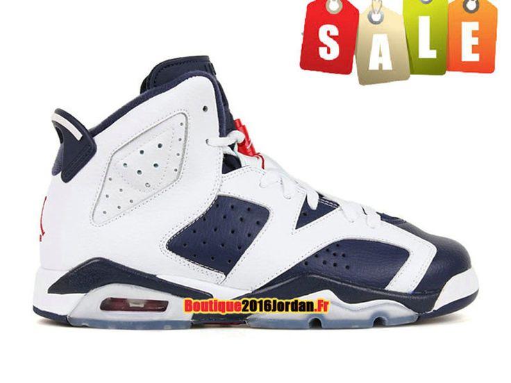 Air Jordan 6/VI Retro GS 2012 - Baskets Jordan Pas Cher Chaussure Pour Femme/Garcon Blanc/Glauque 384665-130
