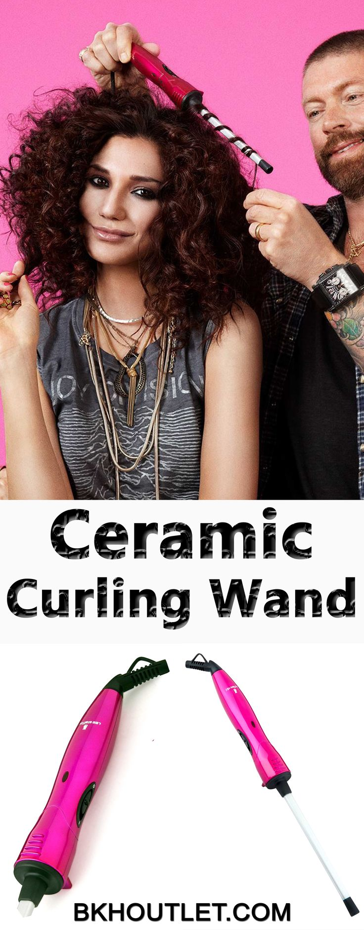 Now You Can Have Salon Quality Curls Without Spending a Fortune! Get tight corkscrew curls that last for days, even if your hair doesn't normally hold curls. Curls that look like you've come straight from the catwalk. │hair care │hair care products │curly hair │curling wands #haircare #haircareproducts #curlyhair #curlingwands