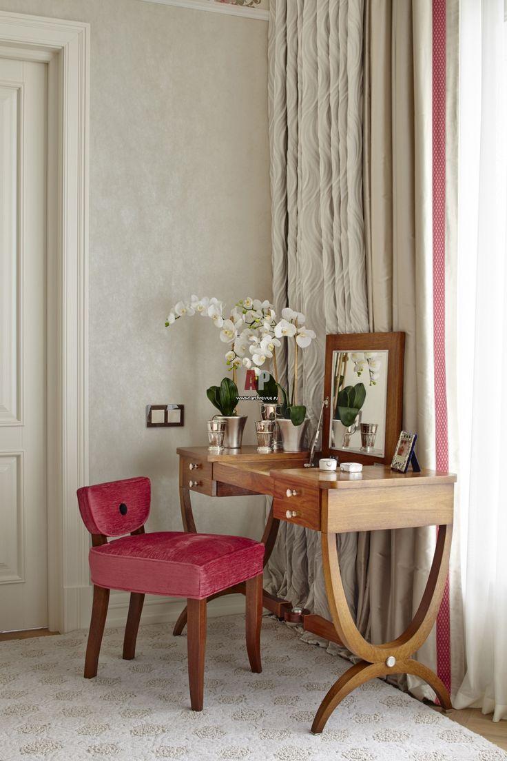 Фото интерьера будуара квартиры в стиле неоклассика