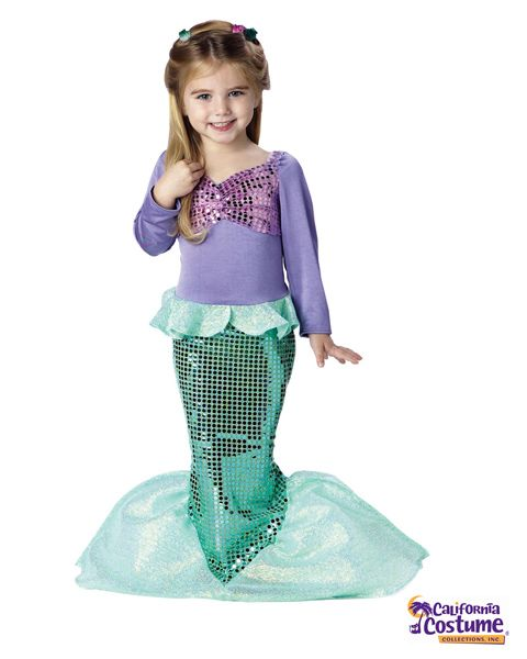 Lil` Mermaid Toddler Costume - ok @Monica Forghani Rankin, I can SO see Evy in this!! She'd be the cutest mermaid!