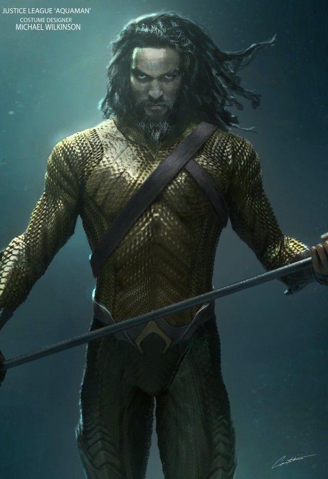 Justice League Concept Art Reveals Zack Snyder S Take On Aquaman S Classic Costume Aquaman Justice League Aquaman Justice League