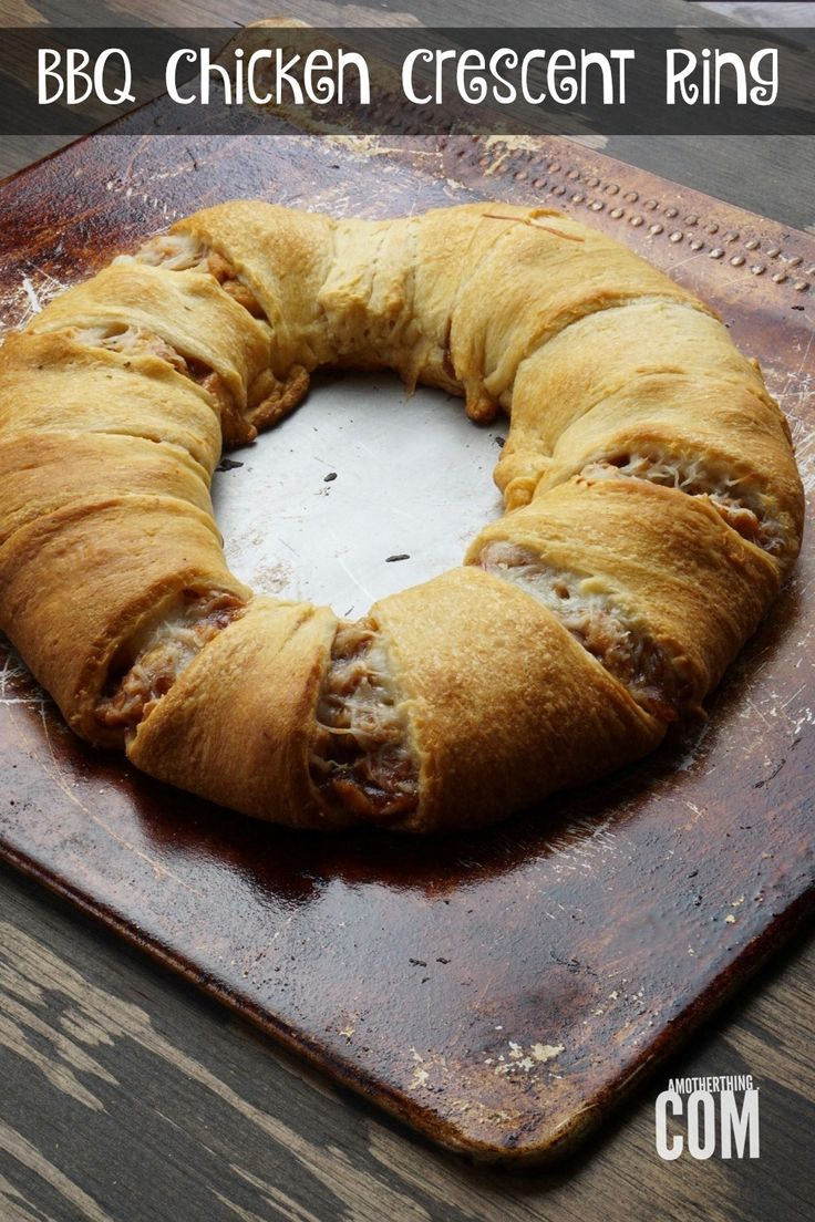 BBQ Chicken Crescent Ring | A Mother Thing