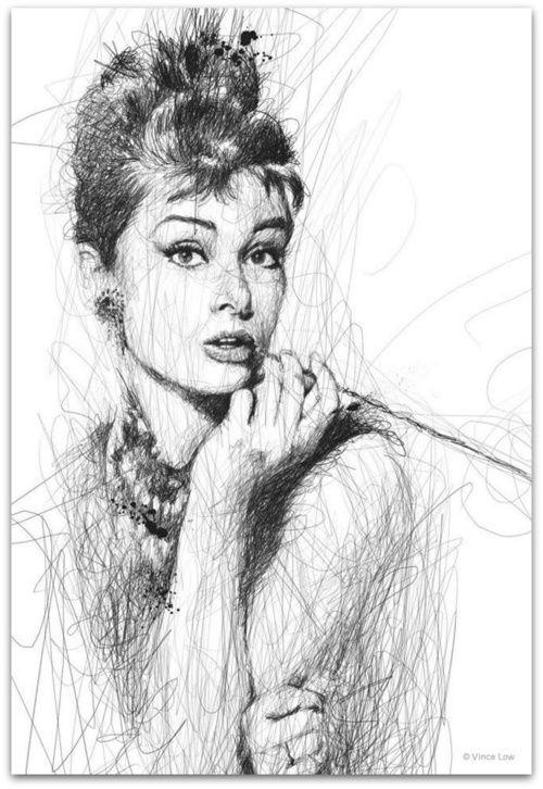 A Scribbled Audrey Hepburn.
