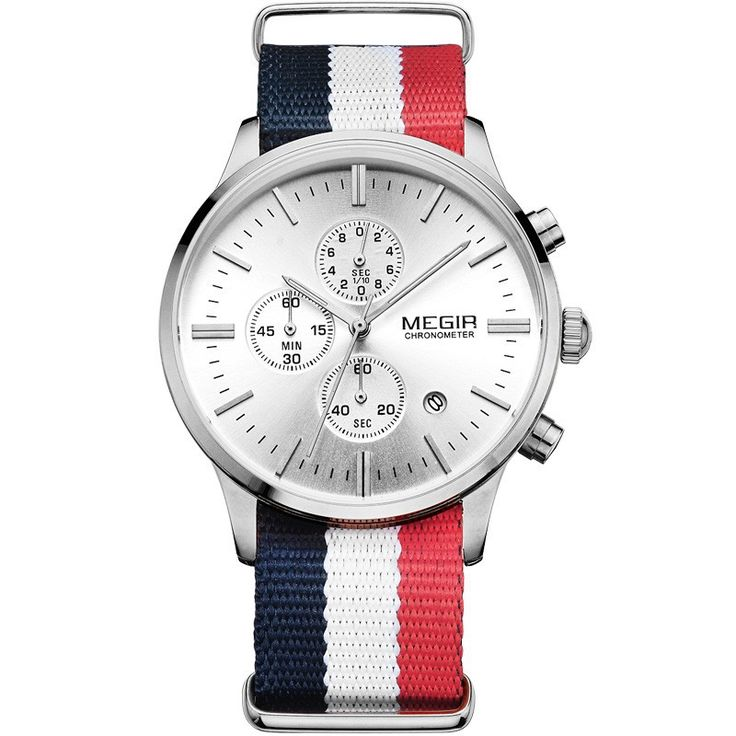 awesome Megir Flag Chronograph just 34.95 - Free Worldwide shipping