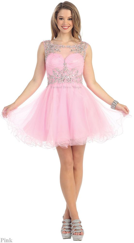 SHORT HOMECOMING QUEEN DRESS SEMI FORMAL PROM DANCE PARTY SWEET 16 AND PLUS SIZE…
