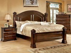 Montrose Traditional Bed With Night Stand
