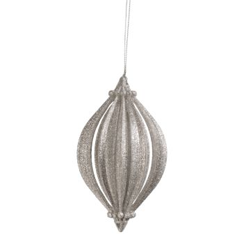 3D-Zwiebel mit Glimmer, silbern