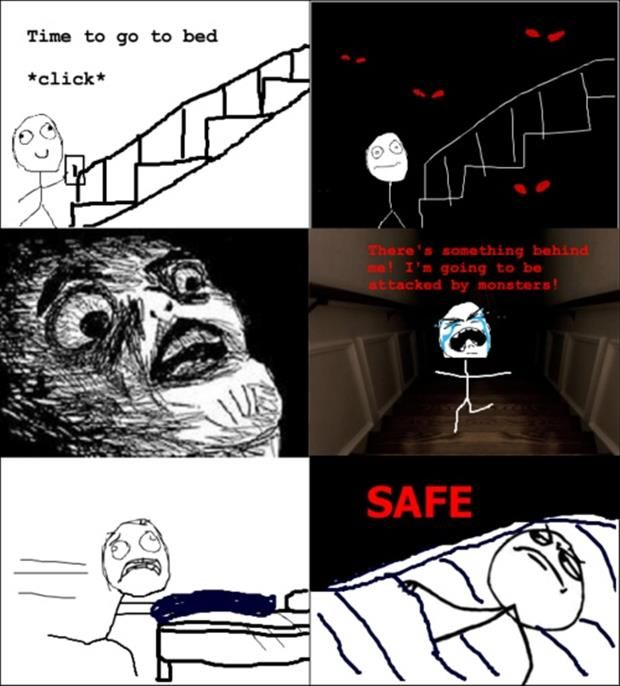 How I walk up the stairs at night.