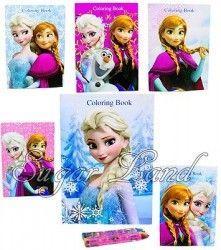 6 Disney Frozen Anna Elsa Olaf Coloring Books Party Bags Fillers Rewards