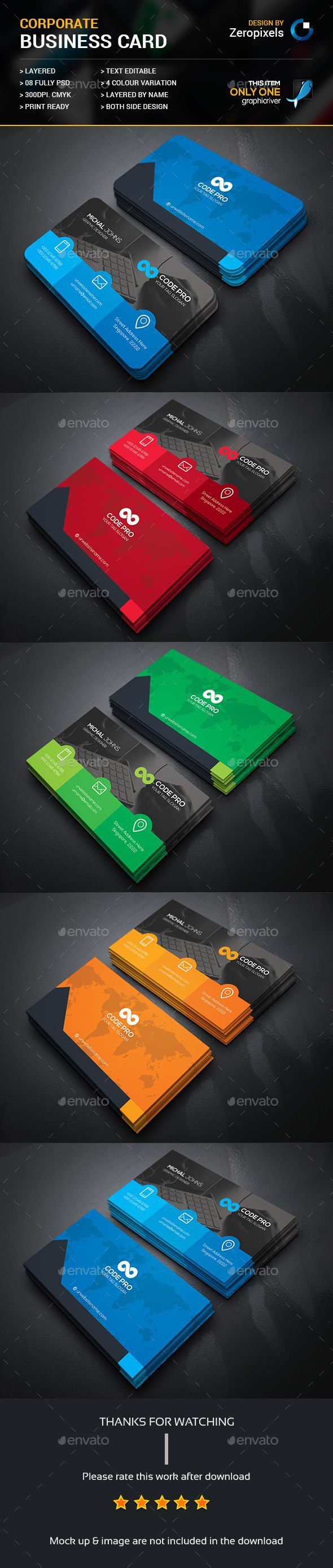 Modern Business Card                                                                                                                                                                                 Más