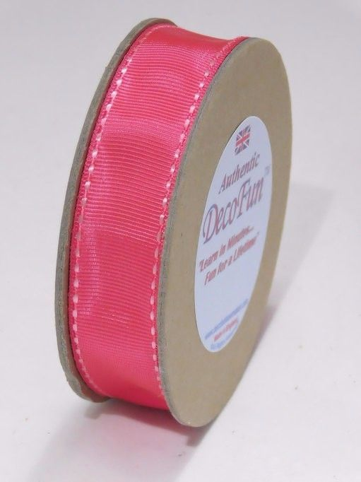 For Gifts & Crafts. Hot Pink & Pink Ribbon Stitch Edge Grosgrain Made in England Ecofriendly crafts #DecoFunBowMaker