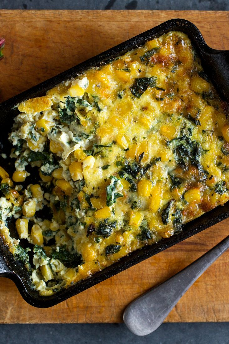 NYT Cooking: This is the template that I use for most of my main-dish vegetable gratins. I like gratins hot, warm or at room temperature. I fold the aromatic vegetable filling into a mixture of eggs beaten with milk, salt, pepper and cheese, usually Gruyère, and then add rice or, in this case, corn.