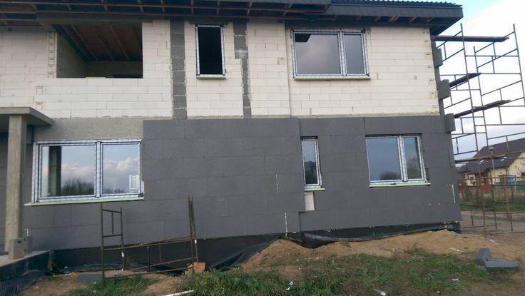 Ocieplanie domu Riwiera 3 z pracowni MG Projekt!  #elewacja #mgprojekt #riwiera3 #projektdomu #budowaRiwiery #ocieplanie