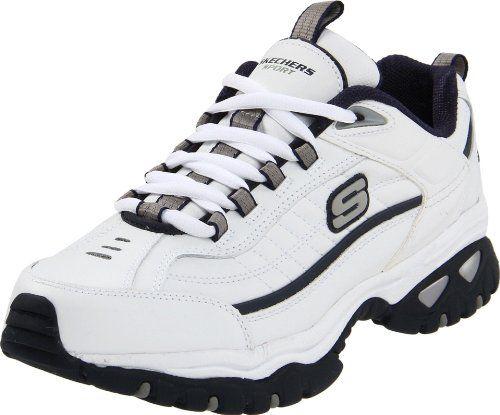 Skechers Sport Men's Energy Afterburn Lace-Up Sneaker,XWhite/Navy,10 XW US - http://fitness-super-market.com/?product=skechers-sport-mens-energy-afterburn-lace-up-sneakerxwhitenavy10-xw-us