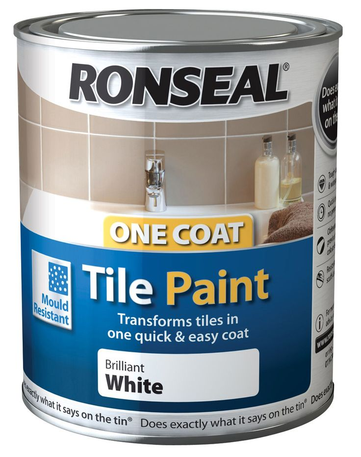 Ronseal One Coat White Gloss Tile Paint 750ml | Departments | DIY at B&Q