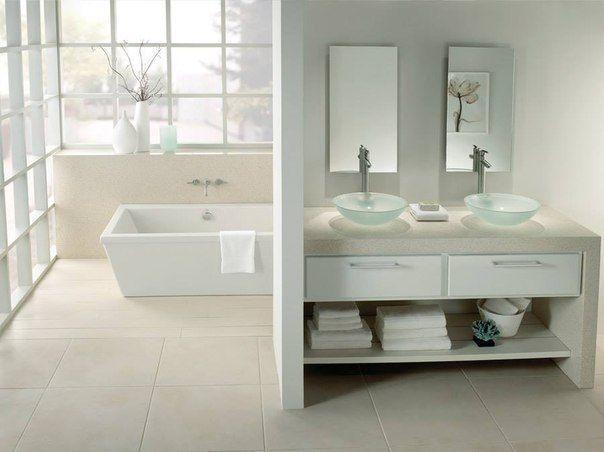 quartz bathroom - Quartzforms MA beige