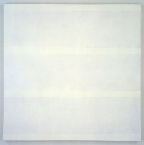 Agnes Martin - Acrylic + Graphite on Canvas - untitled no. 17 (1997)