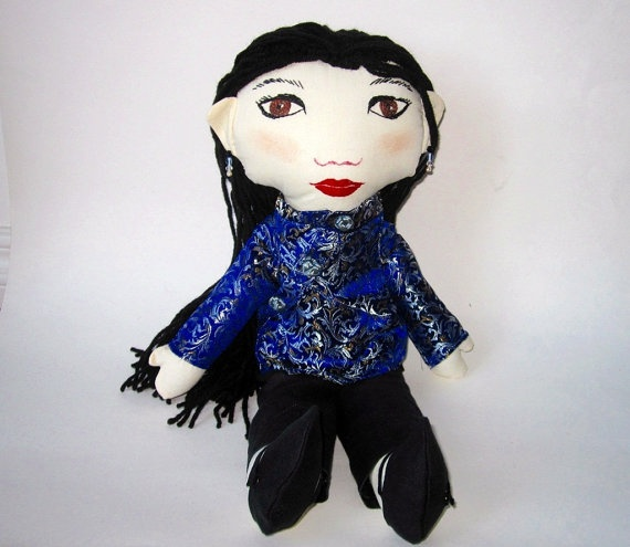Custom  Mandarin Chinese Girl Doll With Cheongsam and by Meoneil, $80.00