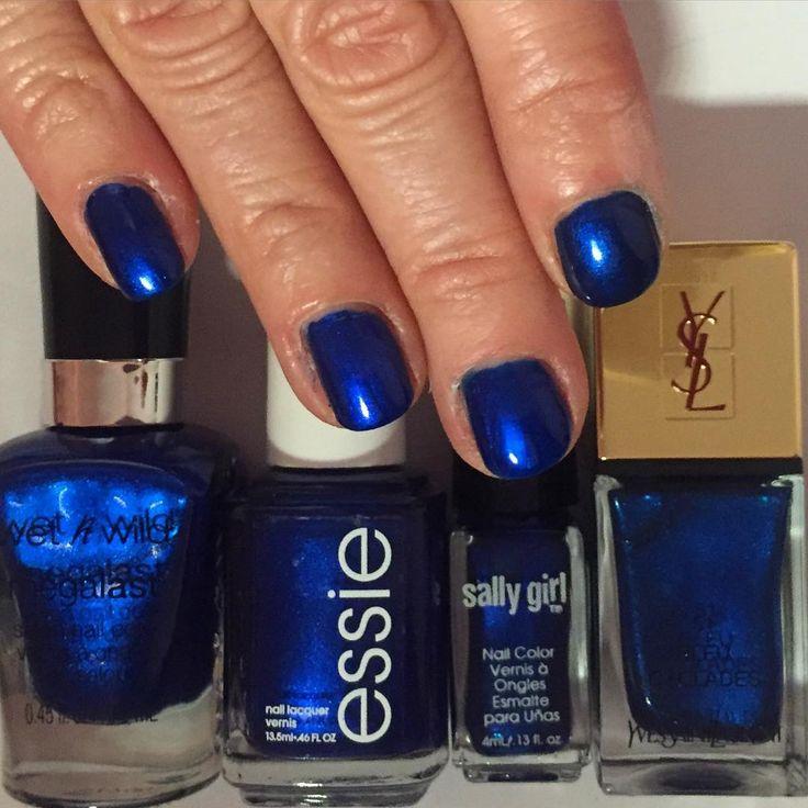 Wet N Wild Pop-Up Bluetique ; Essie Aruba Blue ; Sally
