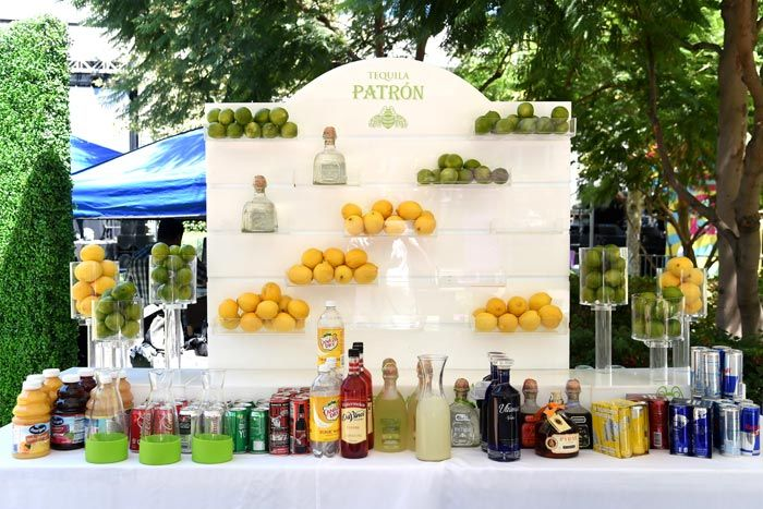 Epic Fest: Sponsor Patrón set up a bar with displays of whole citrus fruit. The brand also served ice pops and ice cream on the sweltering Los Angeles day.