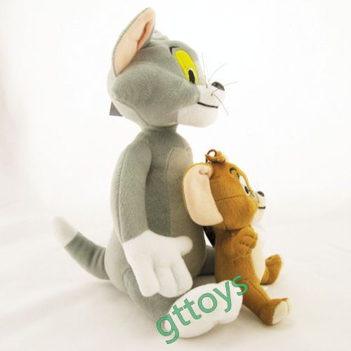 2pcs/set Baby Toys Cat Tom And Jerry Mouse Plush Stuffed Toys Dolls #TOMY