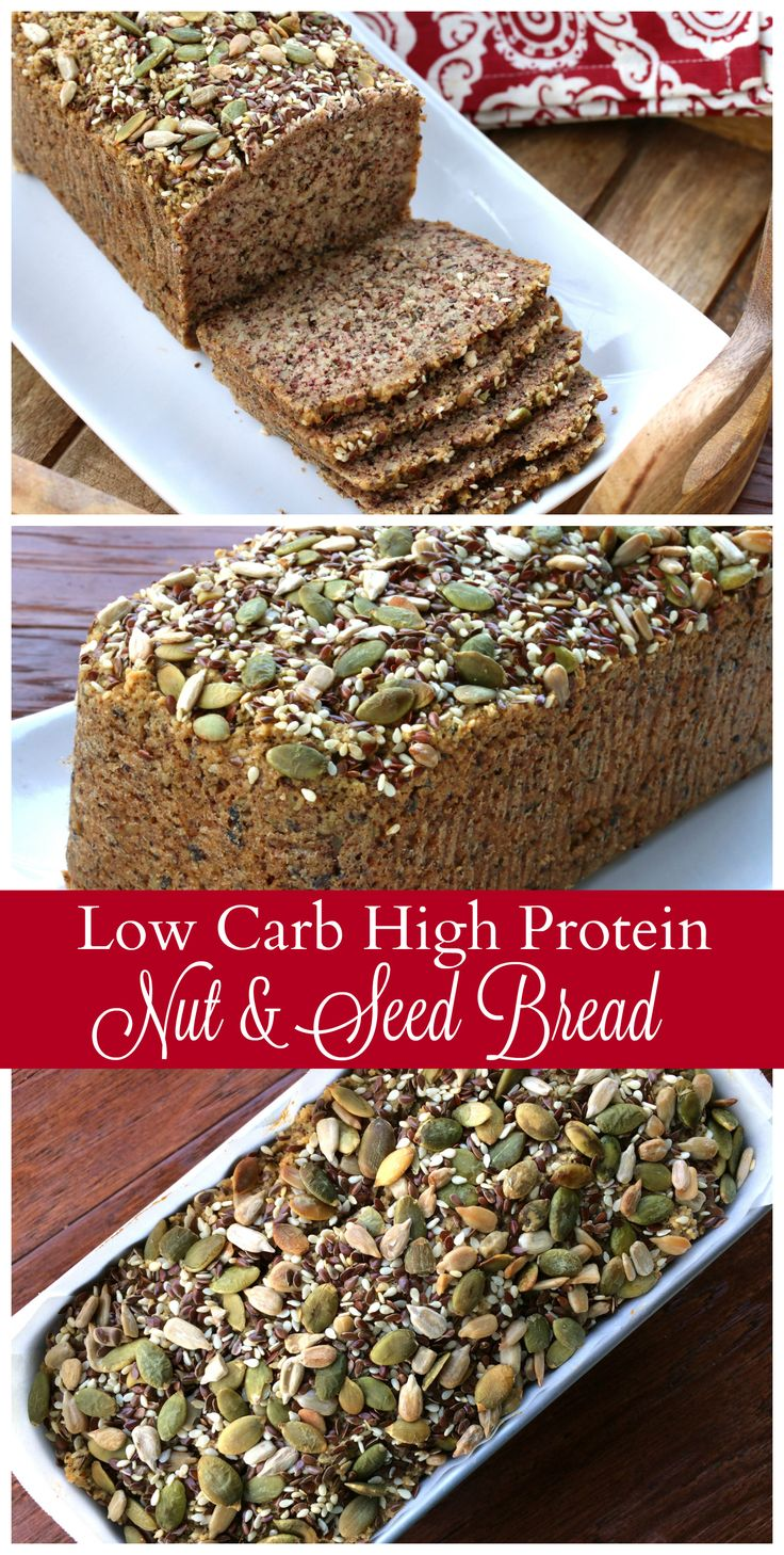 Low Carb High Protein Nut & Seed Bread #SilkProteinNutmilk #ad @LoveMySilk daringgourmet.com (High Protein Vegetarian Recipes)