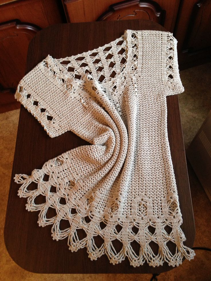 Crochet Туника крючком