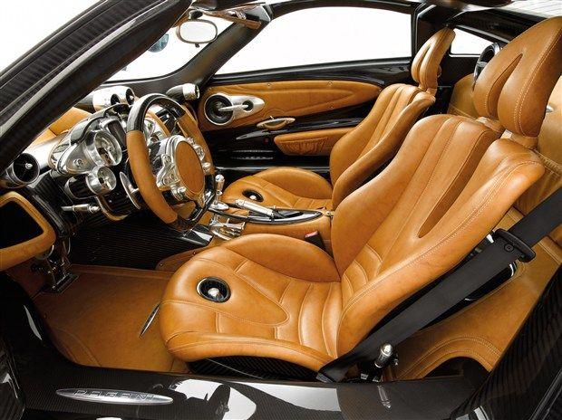 Pagani Huayra Interior -  Front Seats