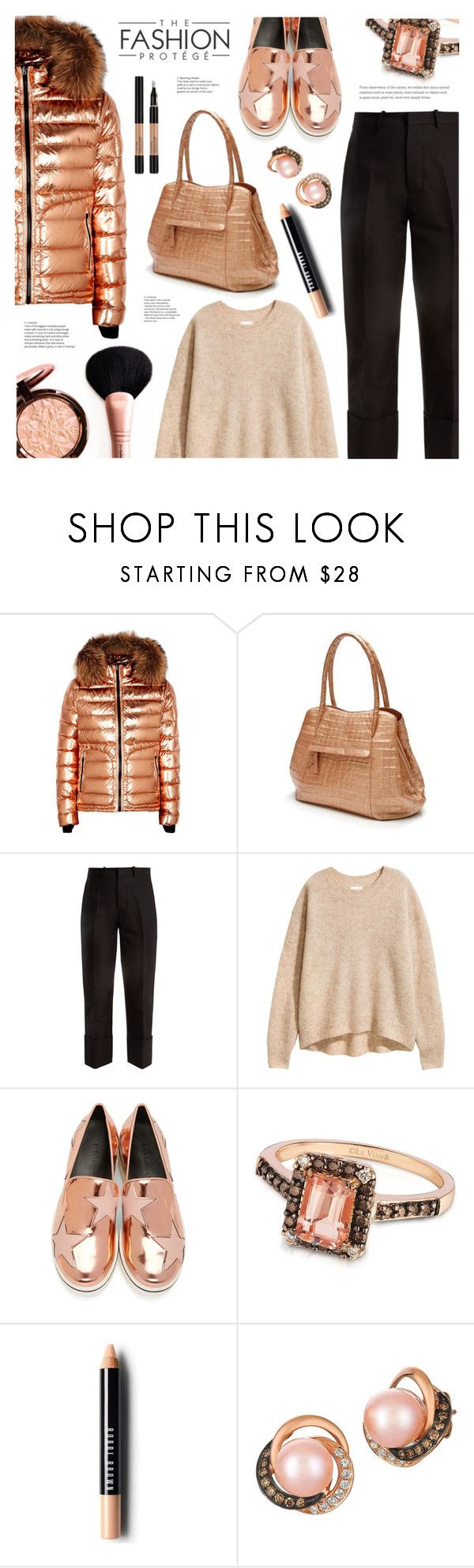 """Metallic Copper"" by ames-ym ❤ liked on Polyvore featuring 49 Winters, Nancy Gonzalez, Marni, STELLA McCARTNEY, LE VIAN, Bobbi Brown Cosmetics, Lancôme, metallic, satchel and sneakers"
