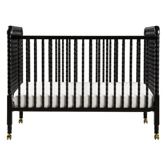 Black Jenny Lind Crib in a Classic Nursery - if you love a traditional baby's room, then this crib is for you!