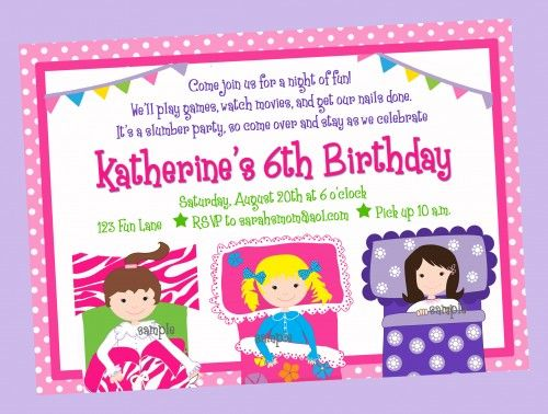 139 best Slumber party images on Pinterest Pajama party, Birthdays - best of birthday invitations sleepover party