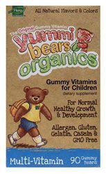Yummi Bears Organics Gummy Vitamins for Children