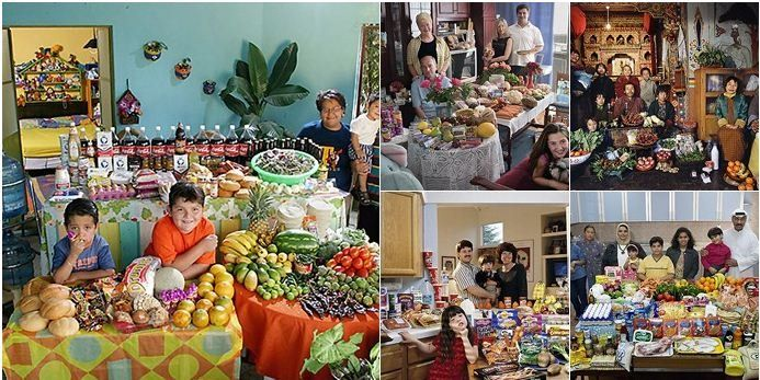 By Sarah Laskow Have you seen these photos by Peter Menzel and Faith D'Alusio? They show what a family eats for a week in countries around the world.